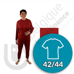 Molene Onesie Bordeauxrood 42/44