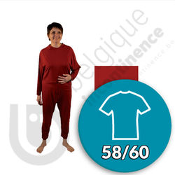 Molene Onesie Bordeauxrood - 58/60