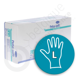 Gants Peha-Soft Latex Non Poudrés - LARGE