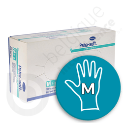 Gants Peha-Soft Latex Non Poudrés - MEDIUM