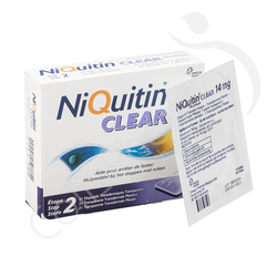 NiQuitin Clear 14mg - 21 emplâtres