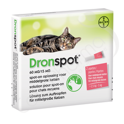 Dronspot 60mg/15mg - 2 pipettes