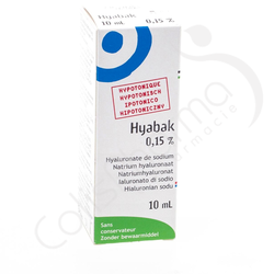 Hyabak 0,15% - Hyaluronate de sodium 10ml