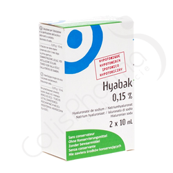Hyabak 0,15% - Hyaluronate de sodium 2x10ml