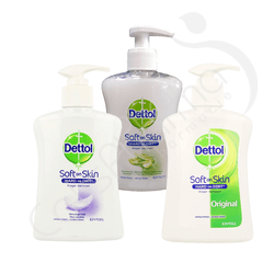 Dettolhygiene - Pack de 3 Gel Lavant - 3x250 ml