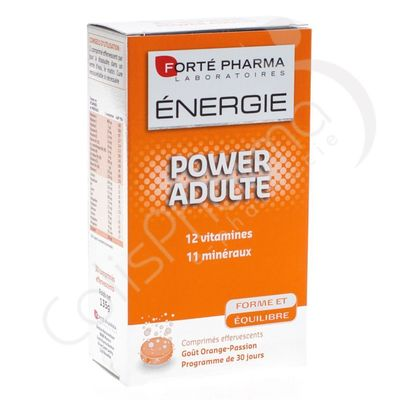 Forté Pharma Energie Power Adulte - 30 comprimés effervescents