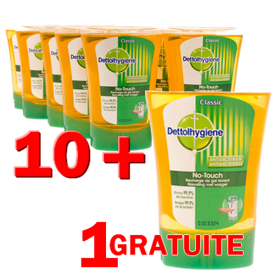 Promo Pack - Dettol No-Touch Recharge 10+1
