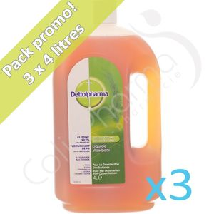 Dettolpharma - 3 x 4 litres Promo Pack
