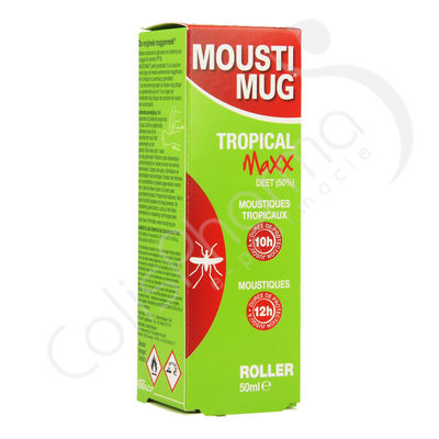 Moustimug Tropical Maxx Roller 50% DEET - 50 ml