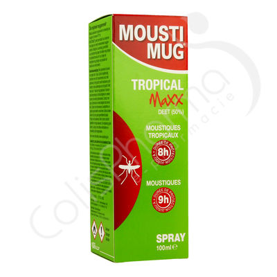 Moustimug Tropical Maxx Spray 50% DEET - 100 ml