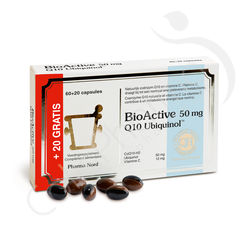 BioActive Q10 50mg - 60 + 20 capsules