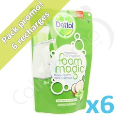 Dettolhygiene - 6 recharges de savon Foam Magic Aloe Vera + Coco Splash