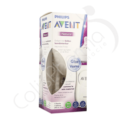 Avent Natural - Biberon en verre 240 ml