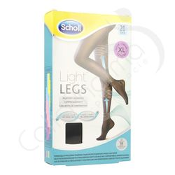 Scholl Light Legs 20D Extra Large Black