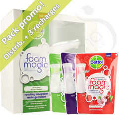 Dettol Foam Magic - Distributeur automatique de savon + 3 recharges