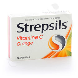 Strepsils Vitamine C Orange - 36 pastilles