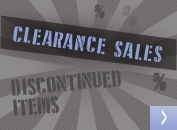 Clearance sales – discontinued items