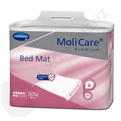 Molicare Bed Mat 7 Drops - 60 x 90 cm with wings (90 x 180 cm)