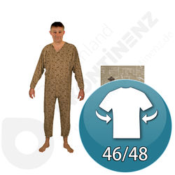 Sleepsuit Hoedic Brown Jed - 46/48