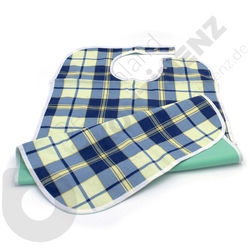 Washable Waterproof Scotland Blue/Yellow Bib