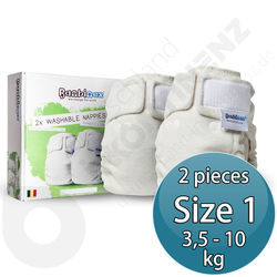 Bambinex Washable Diapers for Babies / Kids 2p - Size 1