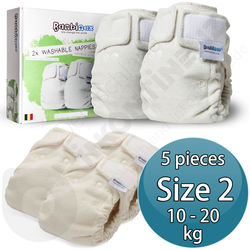 Bambinex Washable Diapers for Babies / Kids 5p - Size 2